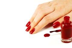 Vernis à ongles Photographie stock libre de droits