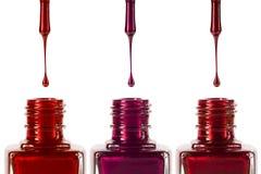 Vernis à ongles et bouteilles Photo libre de droits