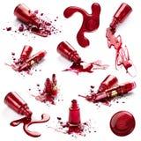 Vernis à ongles et rouge à lievres Images stock
