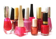 Vernis à ongles rouge et rose Photo libre de droits