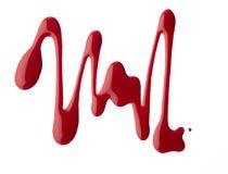 Vernis de clou de forme d'abrégé sur couleur rouge Photographie stock
