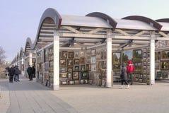 Vernissage στο της Κριμαίας ανάχωμα Στοκ Φωτογραφίες