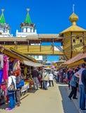 In Vernissage market in Izmailovo Stock Image