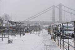 Vernissage op de Krimdijk vóór wederopbouw Royalty-vrije Stock Foto's