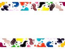 Verniz para as unhas colorido, escova, amostra, quadro para o texto ilustração royalty free