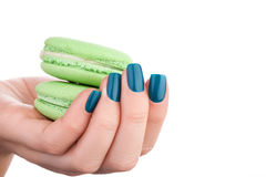 Verniz para as unhas verde Fotografia de Stock