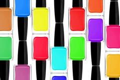 Vernizes para as unhas coloridos, close-up Foto de Stock