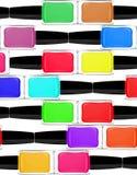 Vernizes para as unhas coloridos, close-up Fotos de Stock Royalty Free