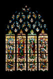 Vernon cathedral window Stock Photo