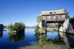Vernon by i Normandie arkivbild