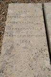 Vernouillet, Frankreich - 4. April 2015: der Kirchhof Lizenzfreie Stockfotografie