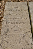 Vernouillet, Frankreich - 4. April 2015: der Kirchhof Lizenzfreies Stockbild