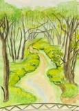 verão, pintando Imagem de Stock Royalty Free