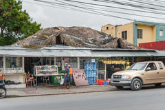 VERON, DOMINICAN REPUBLIC - JUNE 18, 2015: Local market  in Veron of Dominican Republic Stock Photo