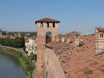 Verona - średniowieczny kasztel Zdjęcia Royalty Free