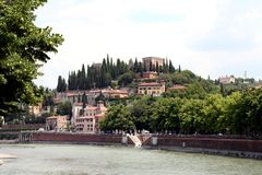 Verona. City in Italy, typical architecture Royalty Free Stock Image