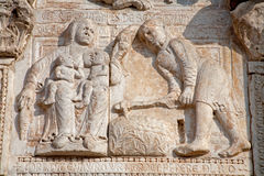Free Verona - Adam And Eva After Expulsion From Paradise Relief From Romanesque Basilica San Zeno. Stock Images - 31528904