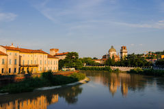 Verona, Adige river  in the morning light Stock Photography