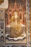 Verona - affresco di Madonna dal della Scala di Santa Maria della chiesa Fotografia Stock Libera da Diritti