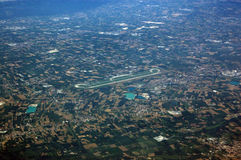 Verona Airport, arial view. View from the air of Verona's Valerio Catullo airport Stock Photo
