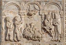 Verona - alivio de la adoración de unos de los reyes magos - San Zeno Foto de archivo libre de regalías