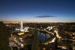 Verona alla notte Veneto Italia Europa Fotografia Stock Libera da Diritti