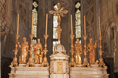 Verona - Altar from year 1752 in sanctuary of church San Fermo Maggiore Stock Image