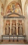 Verona - altare av det Medici kapell i San Bernardino churc royaltyfri foto