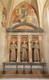 Verona - altare della cappella di Medici nel churc di San Bernardino Fotografia Stock Libera da Diritti