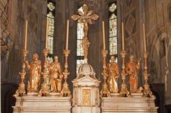 Verona - altare a partire dall'anno 1752 in santuario della chiesa San Fermo Maggiore Immagine Stock