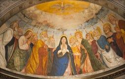 Verona - Apse de la capilla Miniscalchi en la iglesia de Anastasia del santo fotografía de archivo libre de regalías