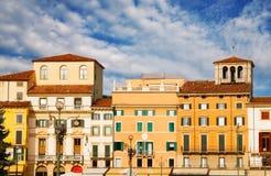 Verona architecture surrounding Piazza Bra Royalty Free Stock Photos
