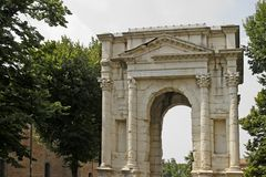 Verona, Arco dei Gavi, Roman building Royalty Free Stock Photo