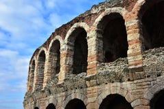 Verona Arena archs. The city most famous landmark Stock Photos