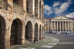 Verona - Arena and Comune di Verona Royalty Free Stock Images