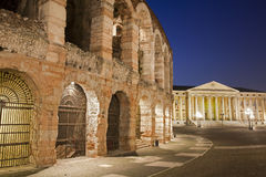 Verona - Arena and Comune di Verona building Royalty Free Stock Images