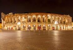 Verona. Arena di Verona at night Stock Photography