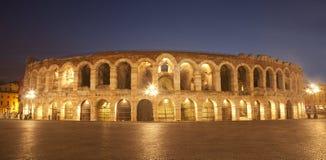 Verona - Arena in dusk Stock Photo