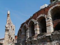 Verona Arena i Verona i Italien Arkivbild