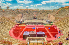 The Verona Arena. VERONA, ITALY - CIRCA MAY 2014: the Arena di Verona, Italy, circa May 2014. Built by the Romans in the 1st century AD, it is worldwide famous Royalty Free Stock Photos