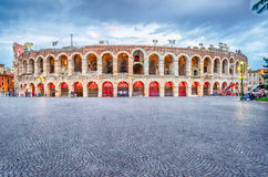 The Verona Arena. VERONA, ITALY - CIRCA MAY 2014: the Arena di Verona, Italy, circa May 2014. Built by the Romans in the 1st century AD, it is worldwide famous Royalty Free Stock Image