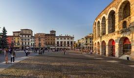 Verona Arena no por do sol Foto de Stock