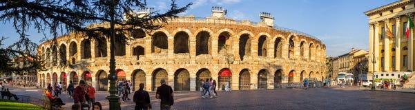 Verona Arena no por do sol Fotografia de Stock Royalty Free