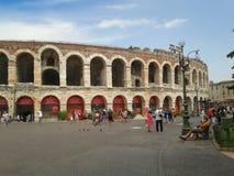 Verona Arena roman amfiteater Arkivbilder