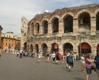 Verona Arena roman amfiteater Arkivbild
