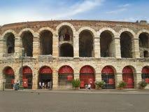 Verona Arena roman amfiteater Fotografering för Bildbyråer