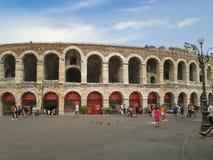 Verona Arena roman amfiteater Royaltyfri Bild