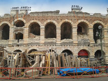 Verona Arena roman amfiteater Arkivfoton