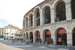 Verona Arena - romersk amfiteater i Verona, Italien Royaltyfri Bild