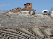 The Verona Arena in Verona in Italy Royalty Free Stock Image